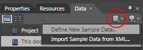 Define New Sample Data